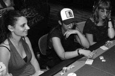 Ladies playing poker