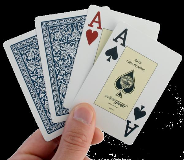 קלפים איכותיים למשחק פוקר מקצועי. חברת פורניר העולמית, 100% פלסטיק, איכותי.